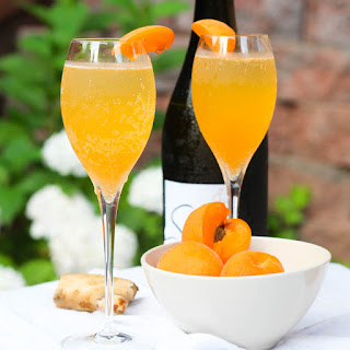 Apricot Ginger Bellini.