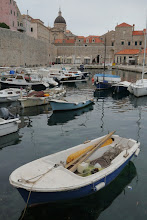 Photo: Boats moored at Dubrovnik's old port