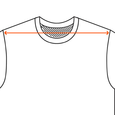 How to find a t-shirt shoulder measurement.
