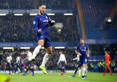 ? Carabao Cup : Chelsea et un grand Eden Hazard éliminent Tottenham aux tirs au but et se hissent en finale