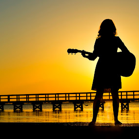 Abigail's Song by Drew Tarter - People Portraits of Women ( singer, entertainer, sunset, silhouette, portrait )