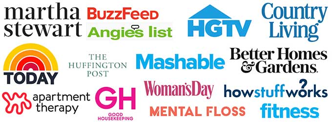 collage of media brand names