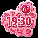 Roses Clock Weather Widget icon