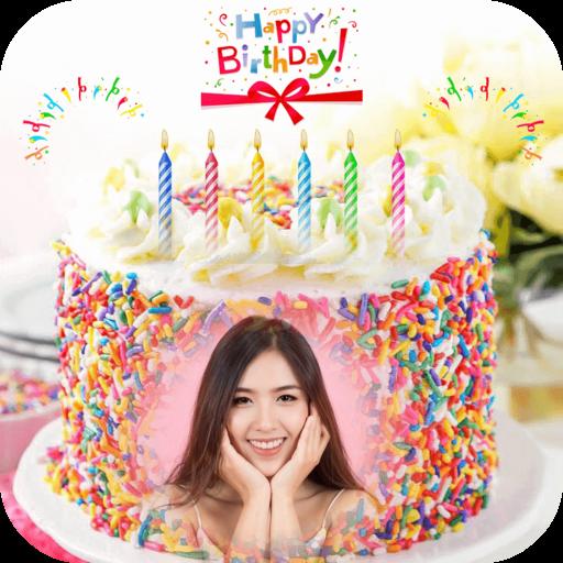 Name Picture on Birthday Cake Icon