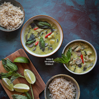Thai Green Curry (with homemade curry paste).