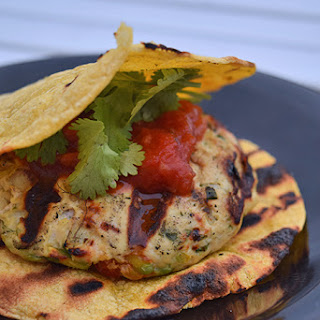 Grilled Guac-Turkey Burgers on Tortilla 'Buns'