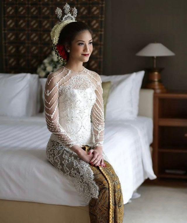 Inspirasi Contoh Model Gaun Kebaya Akad Nikah Terbaru Konveksi