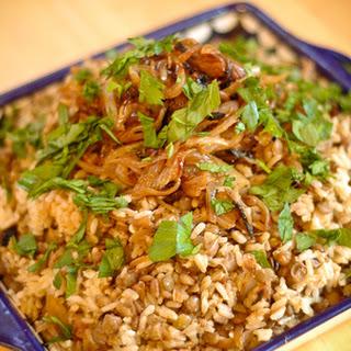 Mujadara (Rice, Lentils and Caramelized Onion Pilaf).