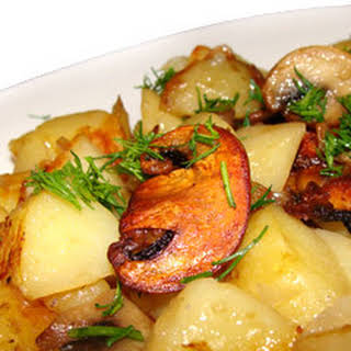 Potato With Mushrooms.