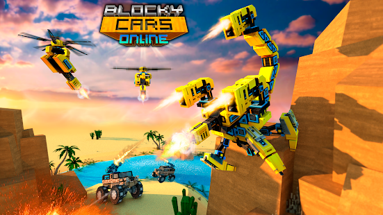 Blocky Cars - Online Shooting Game Screenshots