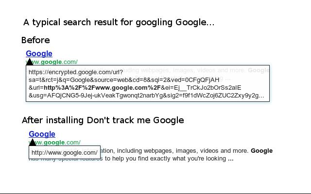 Don't track me Google