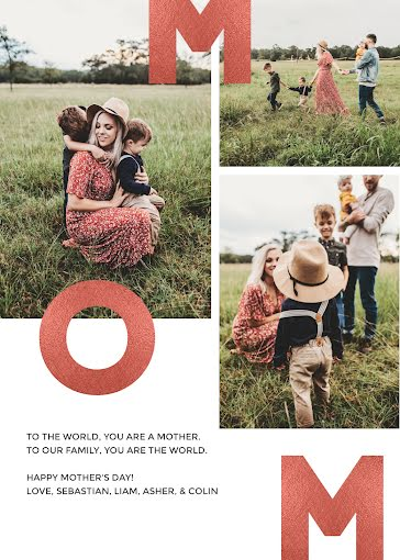 You Are the World - Mother's Day Card Template