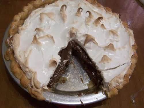 "Grandma Jackson's Chocolate Cream Pie ""I've had two orders for chocolate meringue..."
