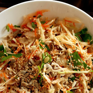 Crunchy Cabbage Salad with Orange-Tahini Dressing.