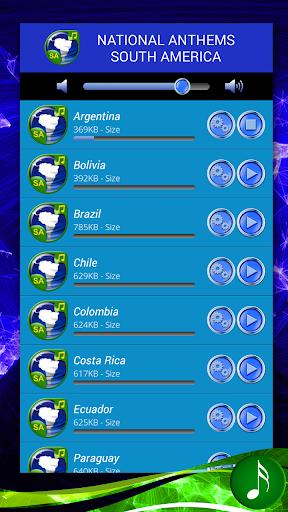 国歌南アメリカ
