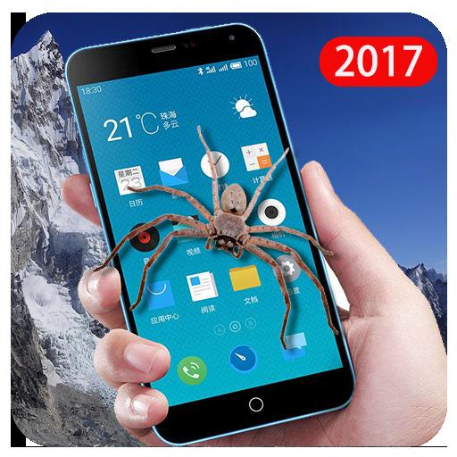Spider In Phone Screen Prank