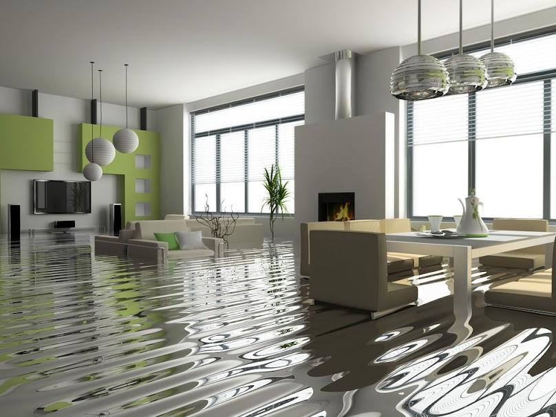 Żywica epoksydowa na podłodze w salonie