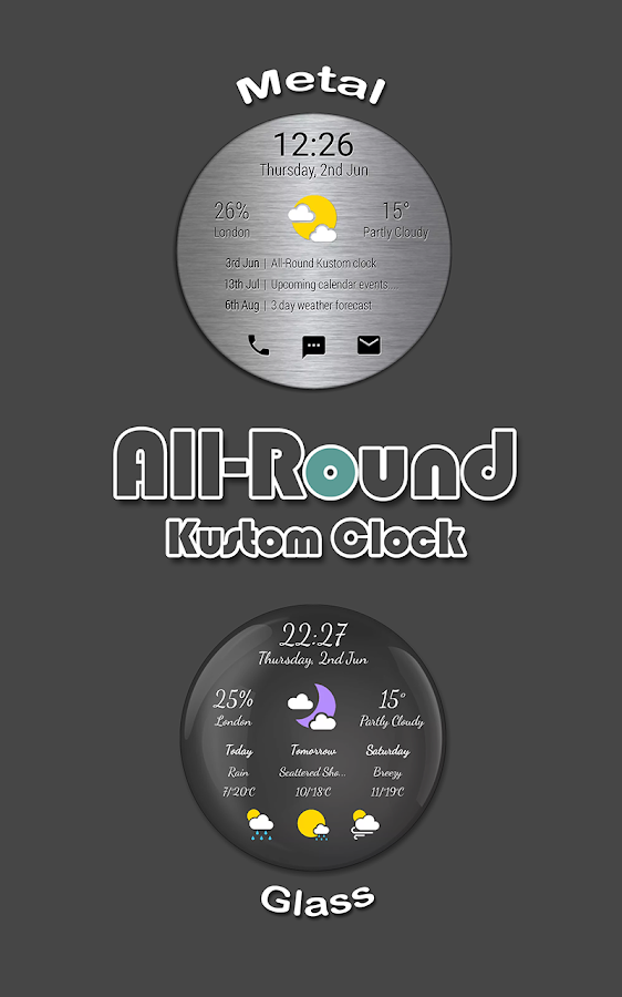All-Round Clock Widget for KWGT KLWP- screenshot