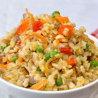 Spicy Egg and Vegetable Fried Rice.