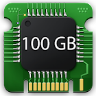 100 GB Storage Space Cleaner : 100 GB RAM Booster icon