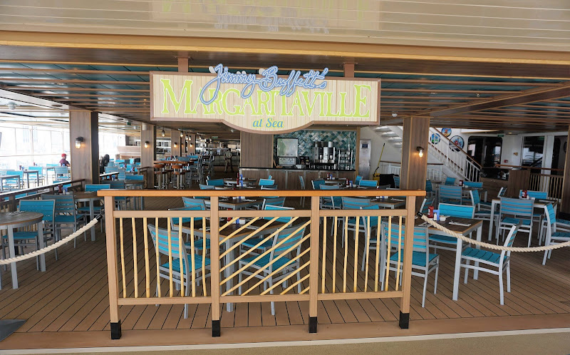 Raise a glass at Jimmy Buffett's Margaritaville at Sea on Norwegian Getaway.