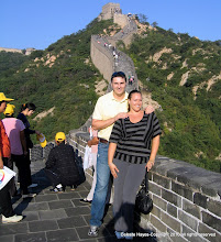 Photo: You are not a man if you don't run up to the top of the Great Wall of China & trust me, it is a longer than it looks