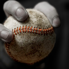 Offspeed by Nate Matthews - Sports & Fitness Baseball ( selective color, shallow dof, baseball, muted, hand )
