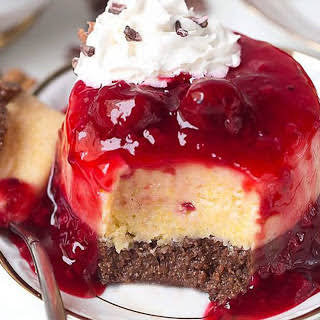 Sweet Polenta Cake With Cherry Sauce [Vegan, Gluten-Free].
