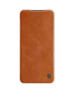 Nillkin QIN Smartcase in genuine Leather for Redmi Note 9 Pro - Brown