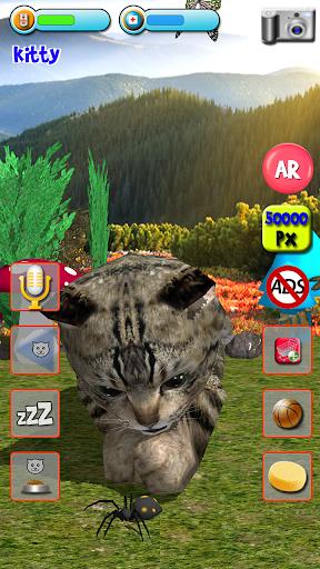 Talking Kittens virtual cat that speaks, take care apkmr screenshots 4