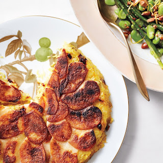 Saffron-Rice and Potato Skillet Cake.
