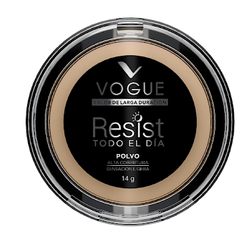 Polvo Compacto Vogue Resist de Larga Duración Natural 14GR