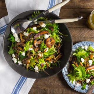 Warm Kale and Caramelized Wild Mushroom Salad.