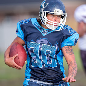 Gridiron Victoria: Richelle Cranston by John Torcasio - Sports & Fitness American and Canadian football ( womens, :geelong buccaneers, outdoors, sports, gridiron victoria, richelle cranston )