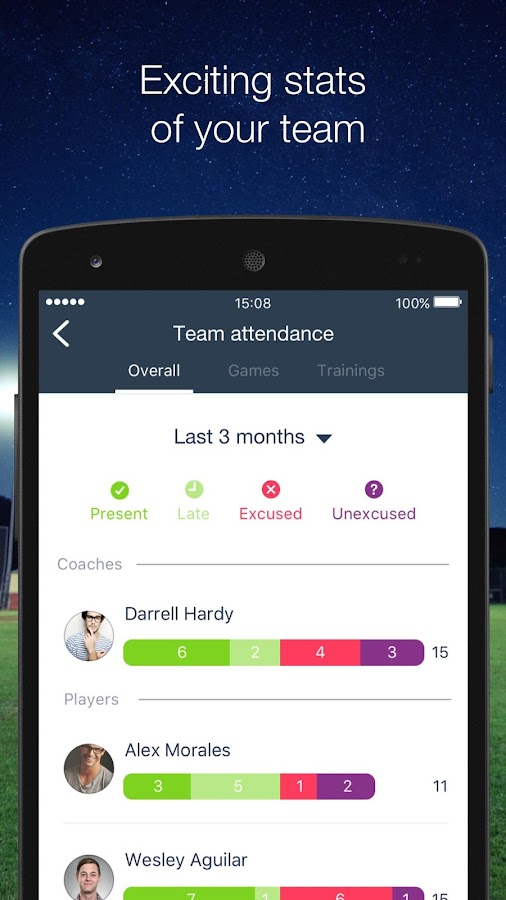 HelloCoach. Team Management- screenshot