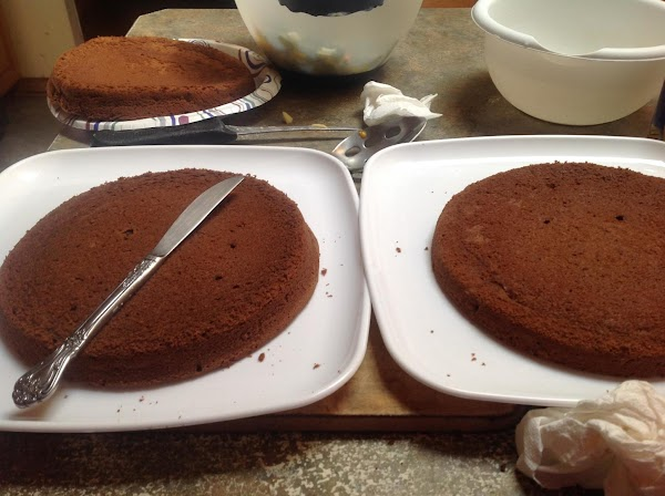 Allow cakes to set in pan for 10 minutes then invert onto wire racks...