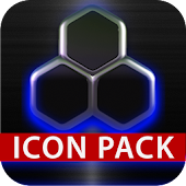 icon pack HD 3D glow blue