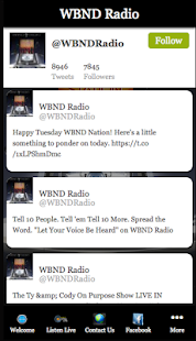 WBND Radio- screenshot thumbnail