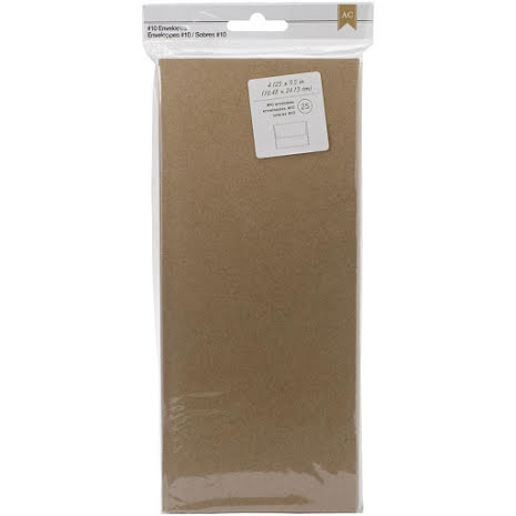 American Crafts #10 Envelopes 25/Pkg - Kraft