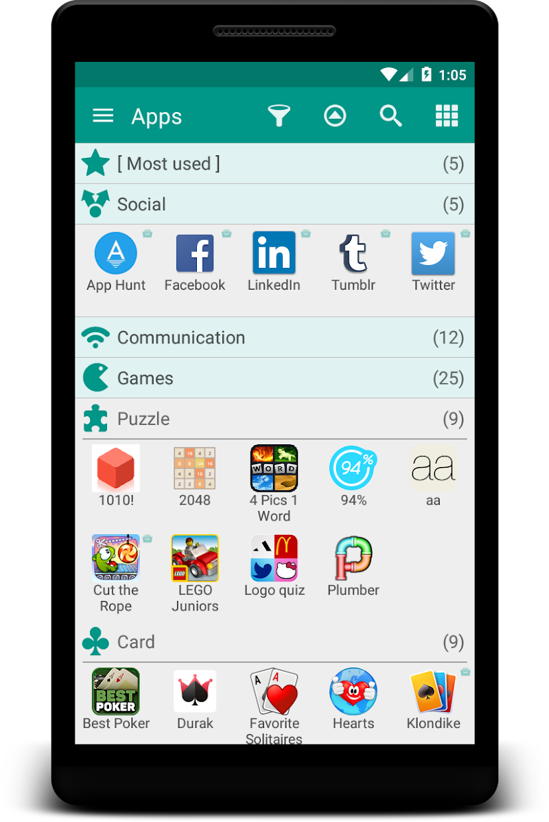 Glextor App Mgr & Organizer Screenshot