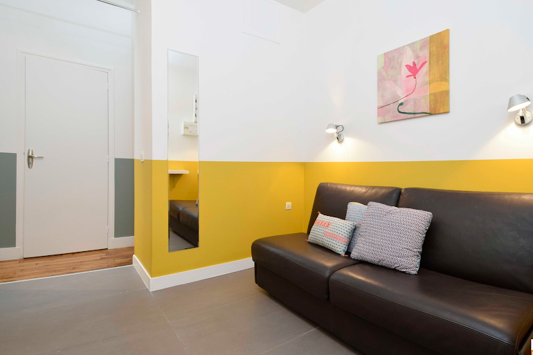 Bright living area at Rue de Montorgueil Serviced Apartment, Opera