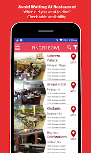 fingerbowl-Restaurants Booking- screenshot thumbnail