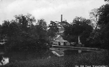 Photo: Lower Mill Pond Wateringbury with the Phoenix Brewery in the background