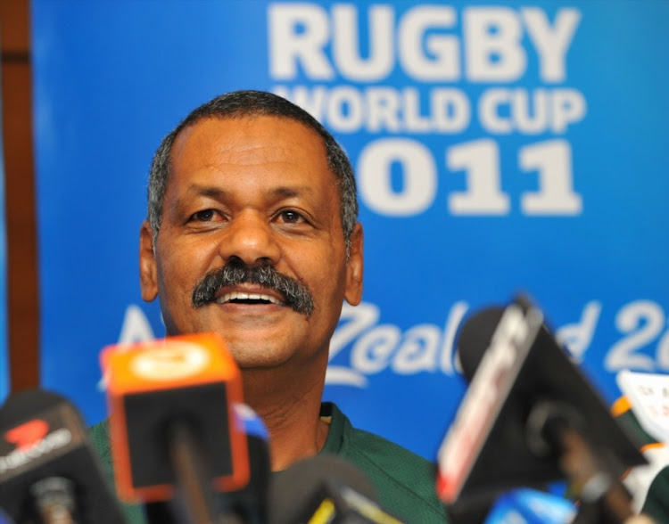 Peter de Villiers during the South African national rugby team announcement, media conference and mixed zone at Amora Hotel on October 06, 2011 in Wellington, New Zealand.