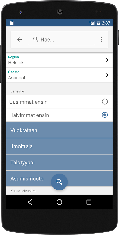Tori.fi- screenshot