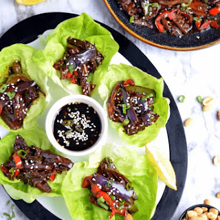 Sweet & Spicy Eggplant Lettuce wrap.