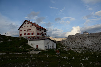 Photo: Dreizinnenhutte, a mountain hut with the best scenery