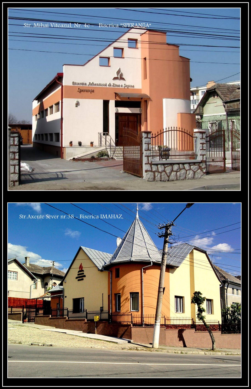 "Photo: ""Biserici Adventiste de Ziua a Şaptea din Turda: - Biserica IMAHAZ, str.Axente Sever nr.38 - Biserica SPERANŢA, str.Mihai Viteazu nr.4c Foto: Ana-Maria Catalina"" sursa Facebook, R.C. https://www.facebook.com/permalink.php?story_fbid=1887098301603648&id=100009104908756&pnref=story"