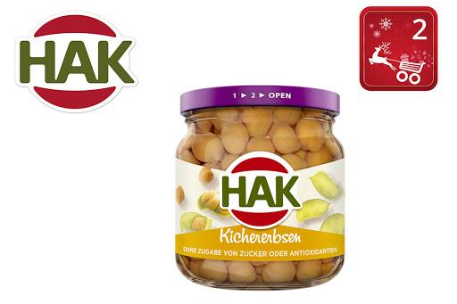 Bild für Cashback-Angebot: HAK Kichererbsen im Glas - Hak