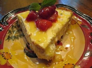 Lemon Balm Cheese Cake